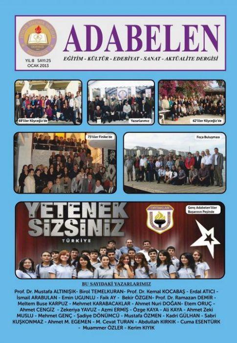 ADABELEN DERGİSİ - SAYI 25 - OCAK 2013