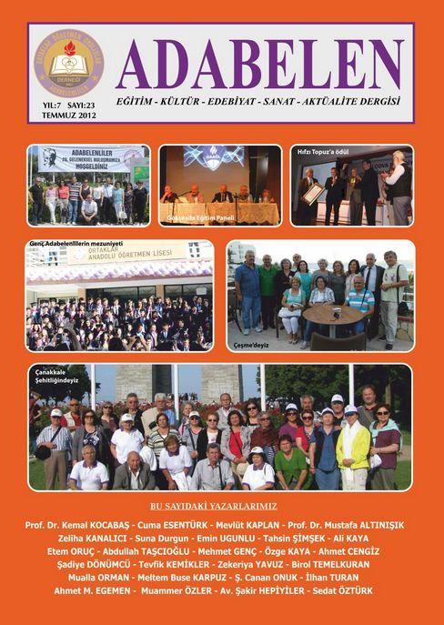 ADABELENLİLER DERGİSİ - SAYI 23 - TEMMUZ 2012