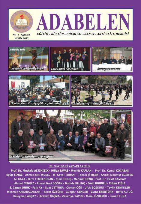 ADABELEN DERGİSİ - SAYI 22 - NİSAN 2012