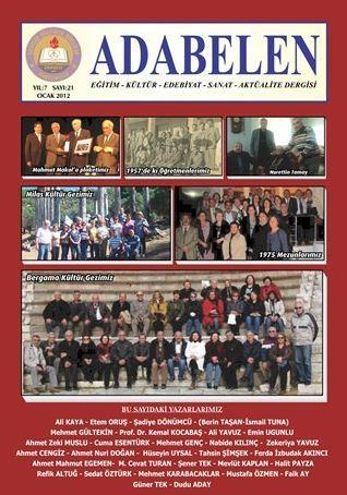 ADABELEN DERGİSİ - SAYI 21 - OCAK 2012