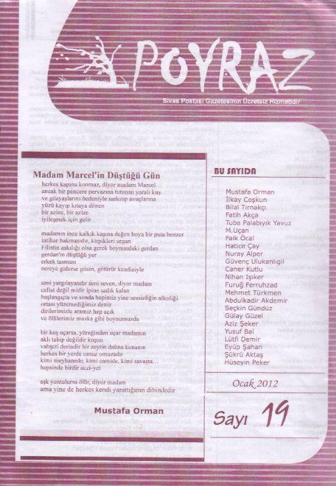 POYRAZ DERGİSİ - SAYI 19 - OCAK 2012