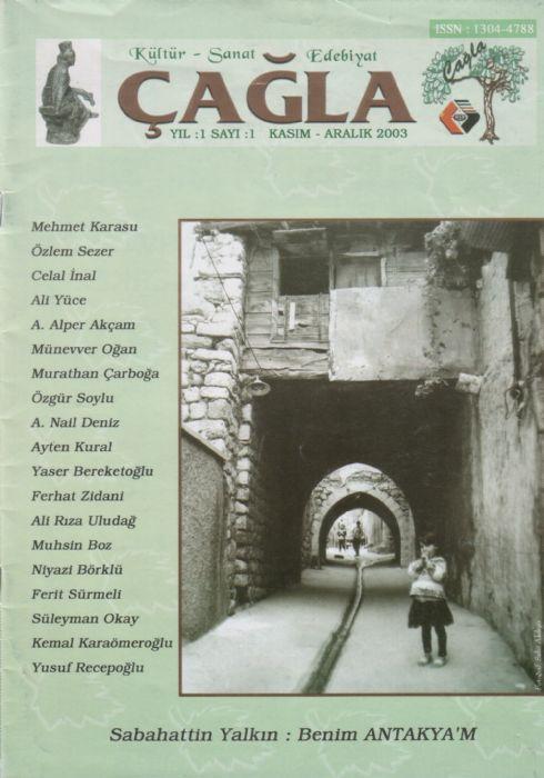 ÇAĞLA DERGİSİ - KASIM ARALIK 2003 - SAYI 1
