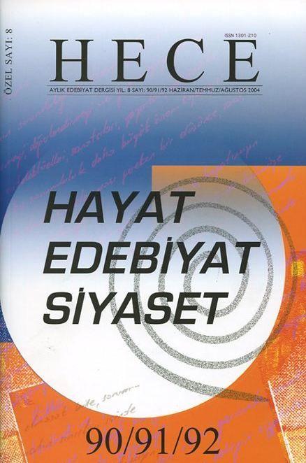 HECE DERGİSİ - SAYI 90 91 92 - HAZİRAN TEMMUZ AĞUSTOS 2004