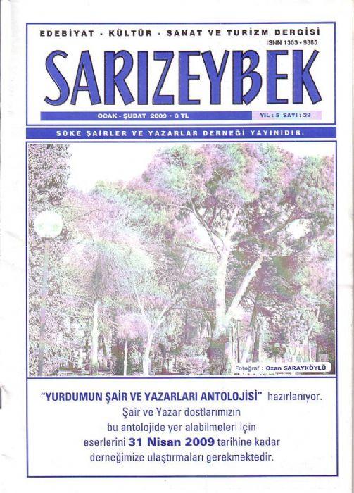 SARIZEYBEK DERGİSİ - SAYI 39 - OCAK ŞUBAT 2009