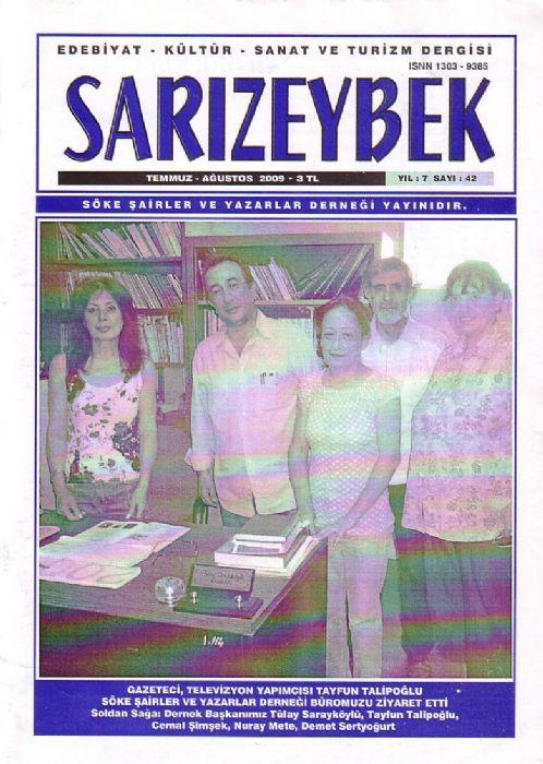 SARIZEYBEK DERGİSİ - SAYI 42 - TEMMUZ AĞUSTOS 2009