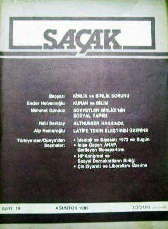 SAÇAK DERGİSİ - SAYI 19 - AĞUSTOS 1985