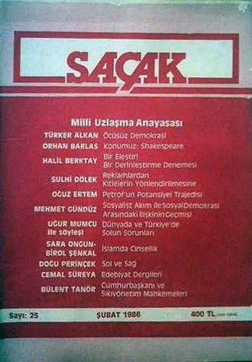 SAÇAK DERGİSİ - SAYI 25 - ŞUBAT 1986