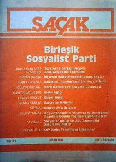 SAÇAK DERGİSİ - SAYI 27 - NİSAN 1986