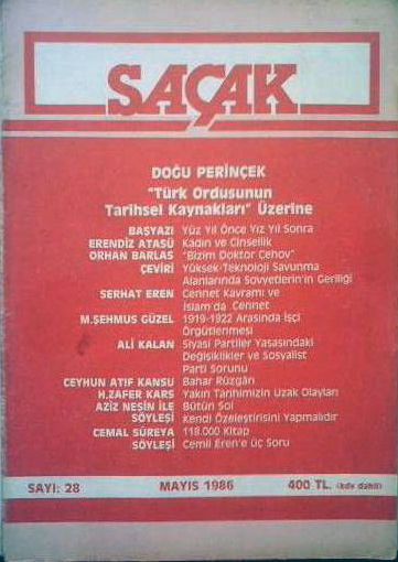 SAÇAK DERGİSİ - SAYI 28 - MAYIS 1986