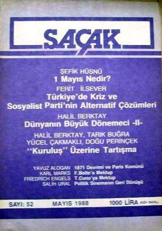 SAÇAK DERGİSİ - SAYI 52 - MAYIS 1988