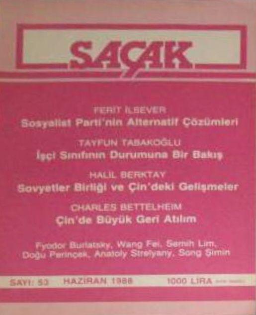 SAÇAK DERGİSİ - SAYI 53 - HAZİRAN 1988