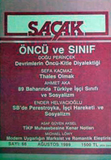 SAÇAK DERGİSİ - SAYI 56 - AĞUSTOS 1988