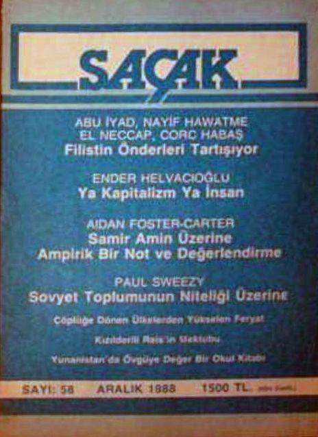SAÇAK DERGİSİ - SAYI 58 - EKİM 1988