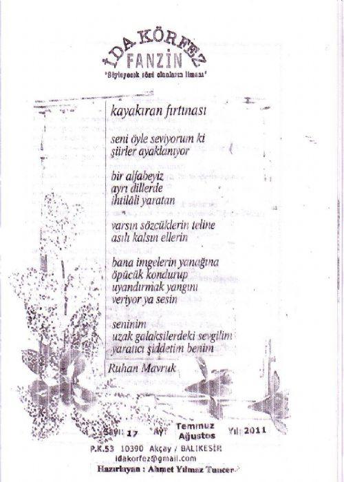 İDA KÖRFEZ FANZİN  - TEMMUZ AĞUSTOS 2011 -  SAYI 17