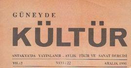 GÜNEYDE KÜLTÜR DERGİSİ - SAYI 22 - ARALIK 1990