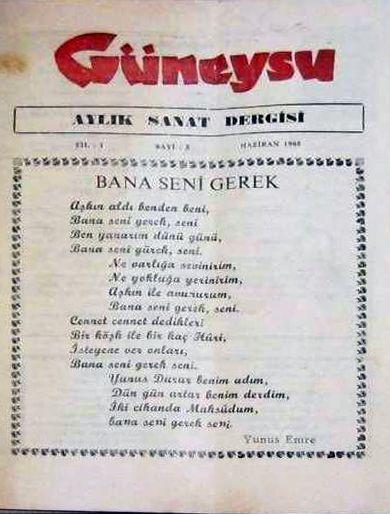 GÜNEYSU DERGİSİ - SAYI 5 - HAZİRAN 1985