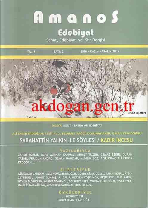 Amanos Dergisi - Sayı 2 - Ekim Kasım Aralık 2014