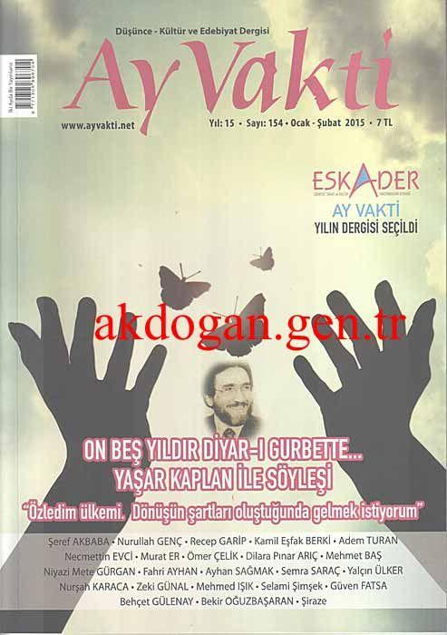 AY VAKTİ DERGİSİ - SAYI 154 - OCAK ŞUBAT 2015