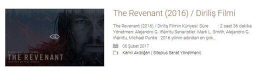 The Revenant (2016) / Diriliş