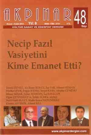 AKPINAR DERGİSİ - SAYI 48 - KASIM ARALIK 2013