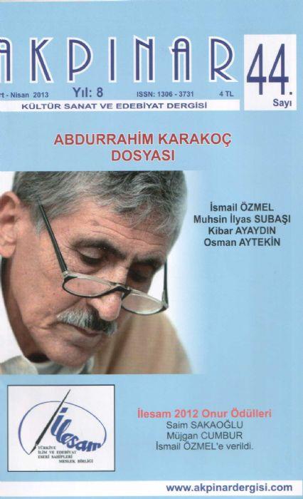 AKPINAR DERGİSİ - SAYI 44 - Mart Nisan 2013