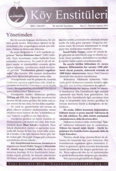 Köy Enstitüleri Dergisi 21