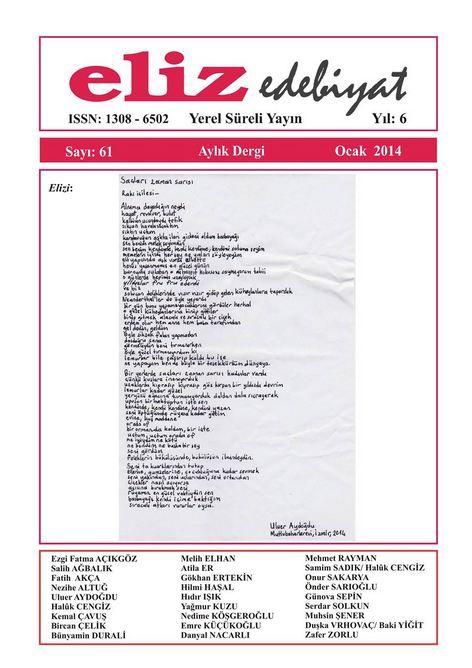 ELİZ DERGİSİ - SAYI 61 - OCAK 2014