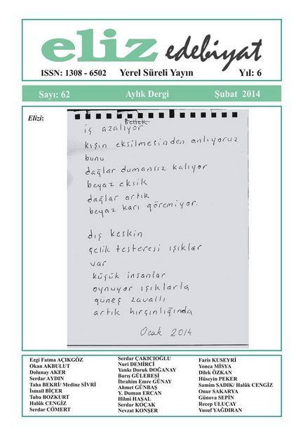 ELİZ DERGİSİ - SAYI 62 - ŞUBAT 2014