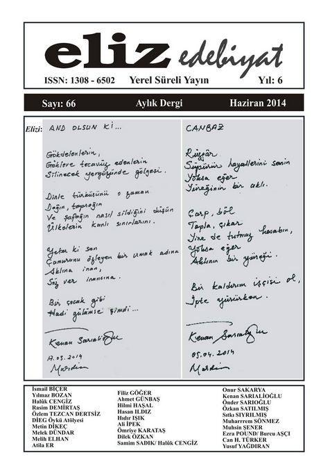 ELİZ DERGİSİ - SAYI 66 - HAZİRAN 2014