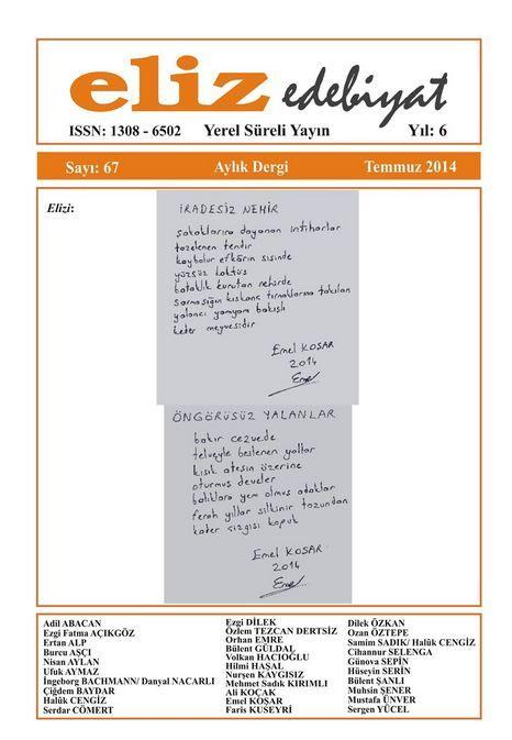 ELİZ DERGİSİ - SAYI 67 - TEMMUZ 2014