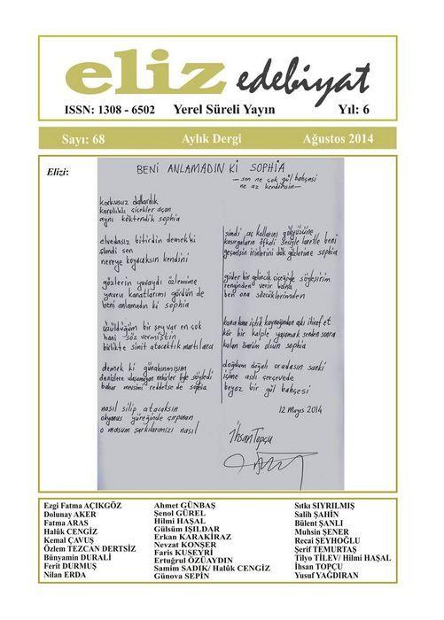 ELİZ DERGİSİ - SAYI 68 - AĞUSTOS 2014