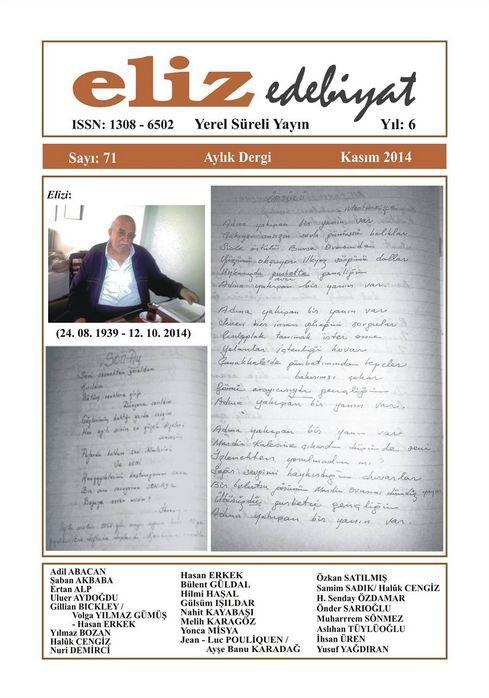 ELİZ DERGİSİ - SAYI 71 - KASIM 2014