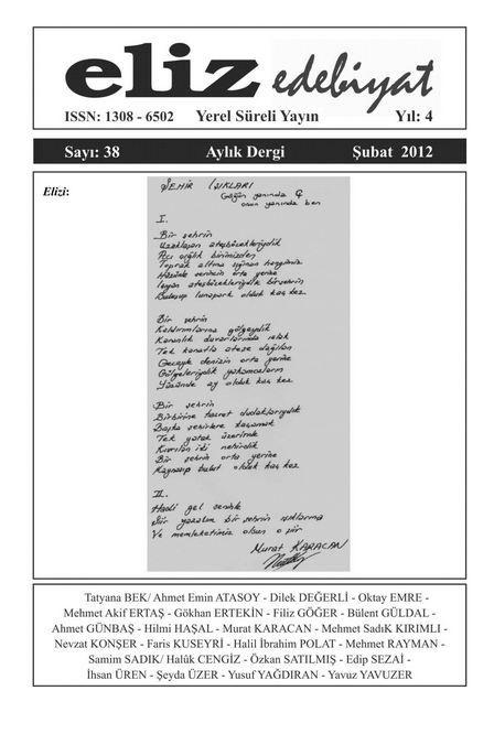 ELİZ DERGİSİ - SAYI 38 - ŞUBAT 2012