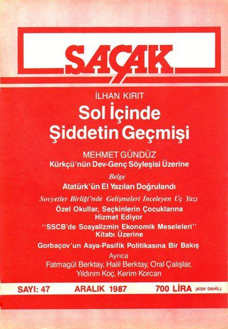 SAÇAK DERGİSİ - SAYI 47 - ARALIK 1987