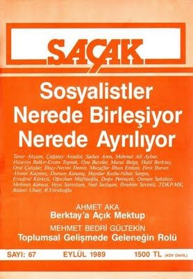SAÇAK DERGİSİ - SAYI 67 - EYLÜL 1989