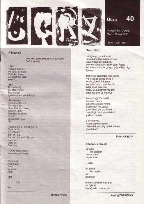 ÜCRA DERGİSİ - MART NİSAN 2011 -  SAYI 40