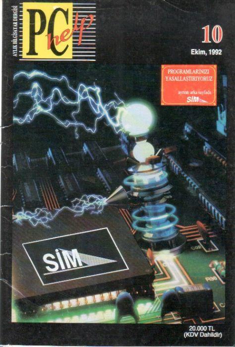 PC HELP DERGİSİ - EKİM 1992 - SAYI 10