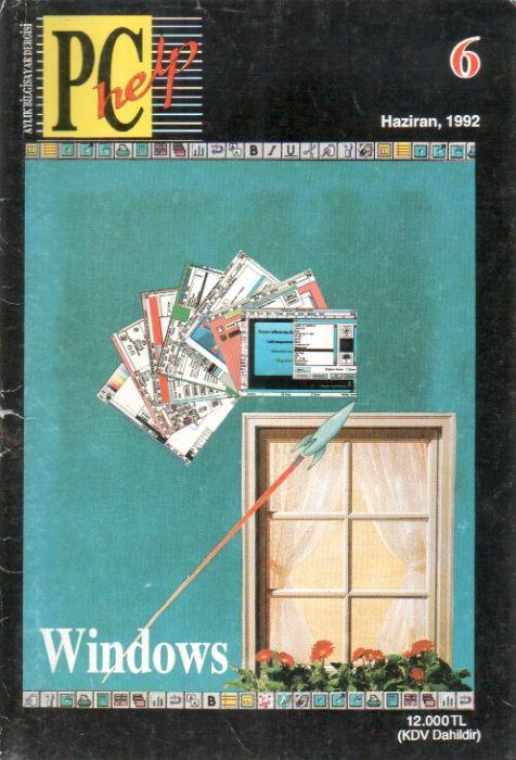 PC HELP DERGİSİ - HAZİRAN 1992 - SAYI 6