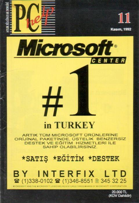 PC HELP DERGİSİ - KASIM 1992 - SAYI 11