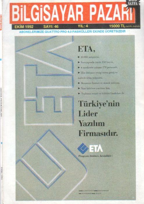 BİLGİSAYAR PAZARI DERGİSİ - EKİM 1992 - SAYI 46