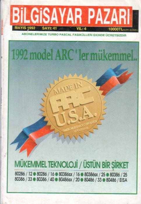 BİLGİSAYAR PAZARI DERGİSİ - MAYIS 1992 - SAYI 41