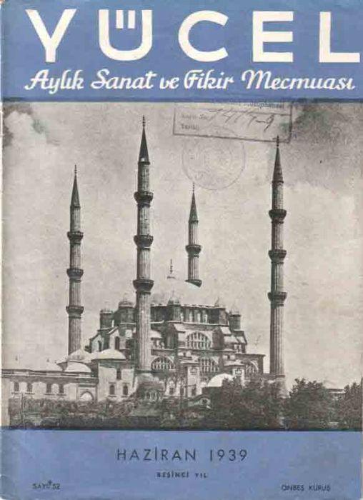 YÜCEL - AYLIK SANAT VE FİKİR DERGİSİ - SAYI 52 - HAZİRAN 1939
