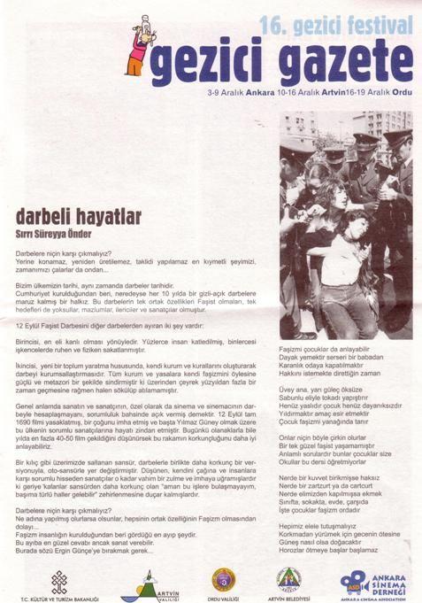 GEZİCİ GAZETE - 16. GEZİCİ FESTİVAL