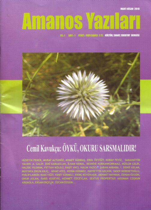 Antakya'da bir dergi: Amanos Yazıları