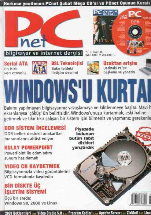 PC-NET-DERGİSİ---ŞUBAT-2001---SAYI-41