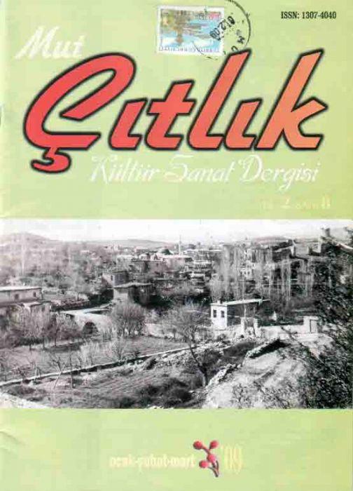 MUT ÇITLIK DERGİSİ - SAYI 8 - OCAK ŞUBAT MART 2009