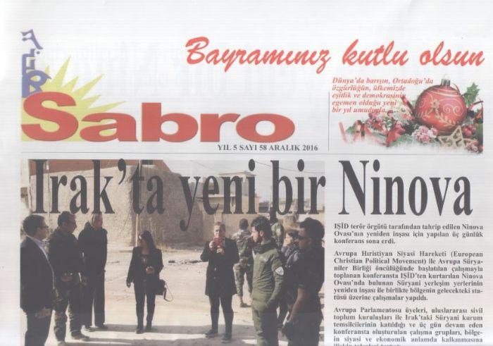 Sabro Gazetesi - Sayı 58 - Aralık 2016