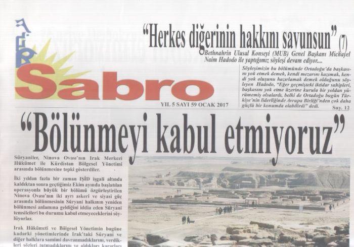 Sabro Gazetesi - Sayı 59 - Ocak 2017