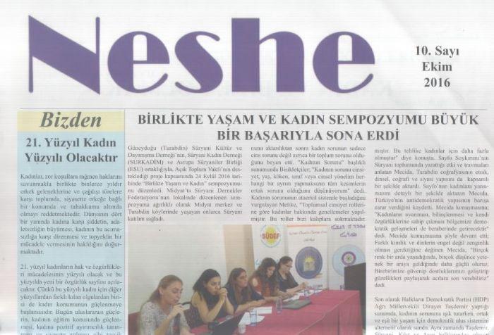 Neshe Bülteni - Sayı 10 - Ekim 2016