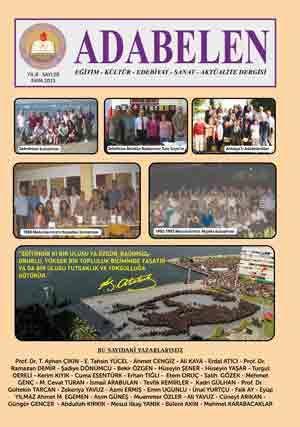 ADABELEN DERGİSİ - SAYI 28 - EKİM 2013